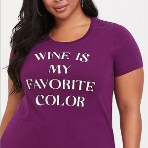 NWT Torrid size 0 Graphics Tee Wine my favorite